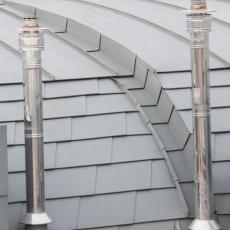 Copertura a scaglie alluminio prefa